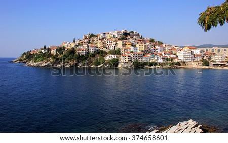 Kavala city in Greece - stock photo