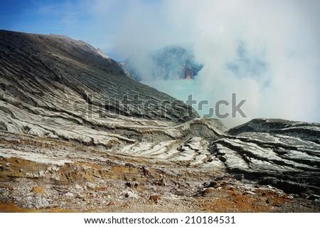 Kawah ijen volcano - stock photo