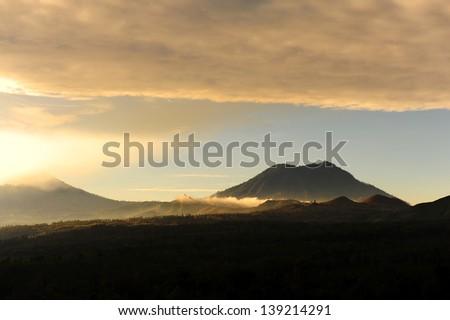 Kawah Ijen Volcano, Indonesia - stock photo