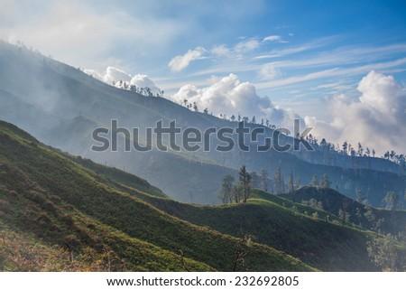 Kawah Ijen, Volcano Indonesia  - stock photo