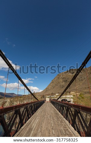 Kawarau Gorge Suspension Bridge. The bridge is mainly used for commercial purposes