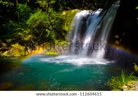 Kawazunanadaru Falls, Fuji Hakone Izu  National Park, Japan. - stock photo