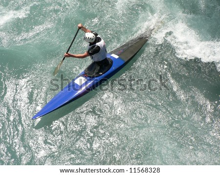 Kayak in the Alps. France - stock photo
