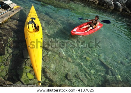 kayak in the tremiti islands