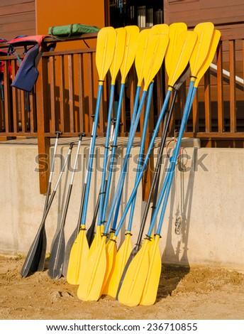 Kayak Paddles - stock photo