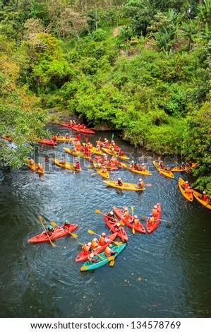 Kayaker sporting ,Thailand - stock photo