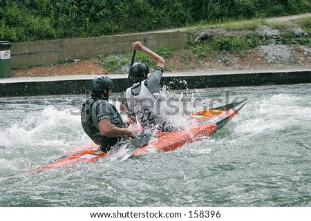 Kayakers in action - stock photo