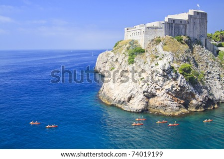 Kayaking in Croatia, Dubrovnik - stock photo
