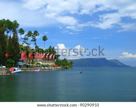 Kayaking in Lake Toba Sumatra