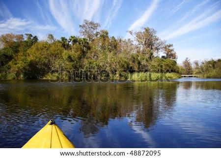 Kayaking the Turner River, Big Cypress National Preserve - stock photo