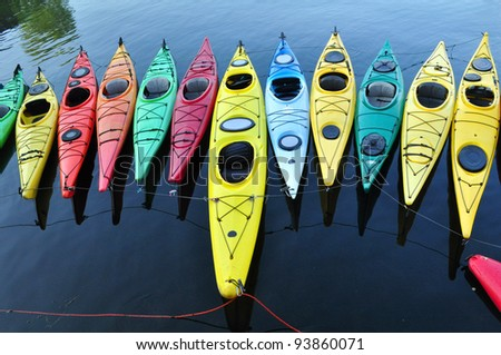 Kayaks in Rockport (2), Massachusetts
