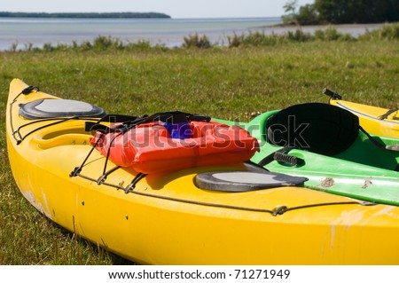 Kayaks in the Everglades National Park in Florida. - stock photo