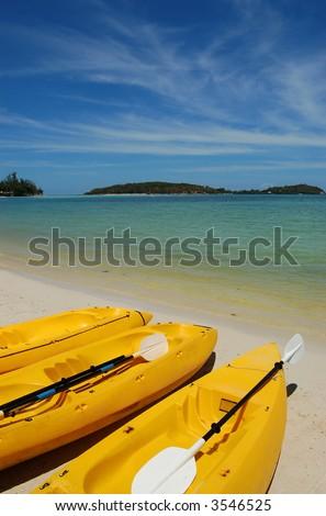 Kayaks, Koh Samui, Thailand - stock photo