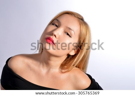 Kazakh Model  - stock photo