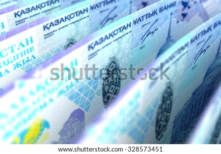Kazakh Tenge Closeup - stock photo