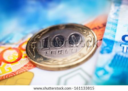 Kazakh tenge money - stock photo