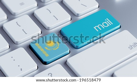 Kazakhstan High Resolution Mail Concept - stock photo