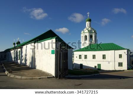 KAZAN, REPUBLIC TATARSTAN, RUSSIA - May, 2014:  St. John the Baptist Orthodox Monastery in Kazan - stock photo