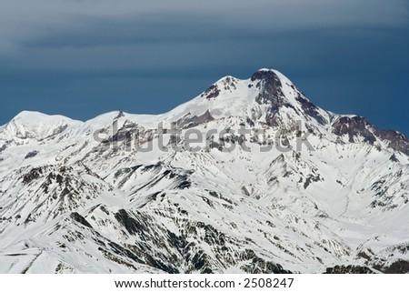 Kazbek mountain (5047 m), Geordgia - stock photo