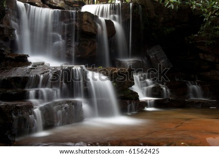 Kbal Chhay Waterfalls in Cambodia - stock photo