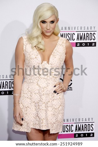 Ke$ha at the 40th Anniversary American Music Awards held at the Nokia Theatre L.A. Live in Los Angeles, California, United States on November 18, 2012.