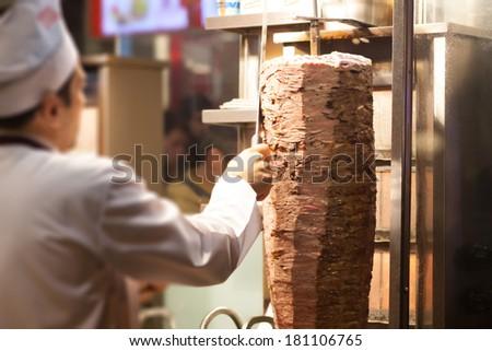 kebab shop - stock photo