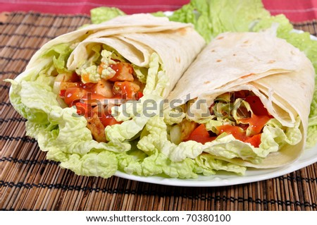 Kebab - traditional turkish food - stock photo