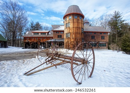 KEENE NEW HAMPSHIRE JANUARY 22th: Barns at Stonewall Farms learning center in Keene, New Hampshire January 22th, 2015 - stock photo