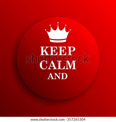 Keep Calm Icon Internet Button On Stock Illustration 357265304