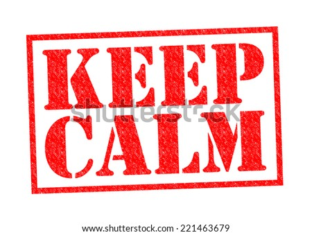 KEEP CALM red Rubber Stamp over a white background,
