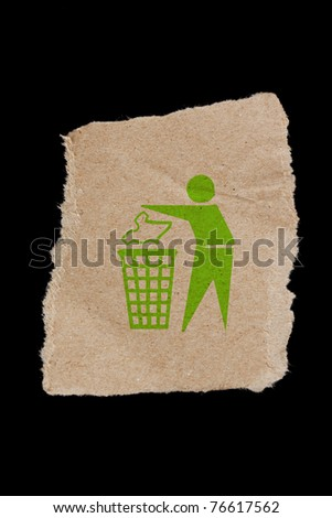 Keep clean, A keep clean symbol on a brown paper. - stock photo