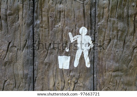 Keep Clean and Litter bin sign - stock photo