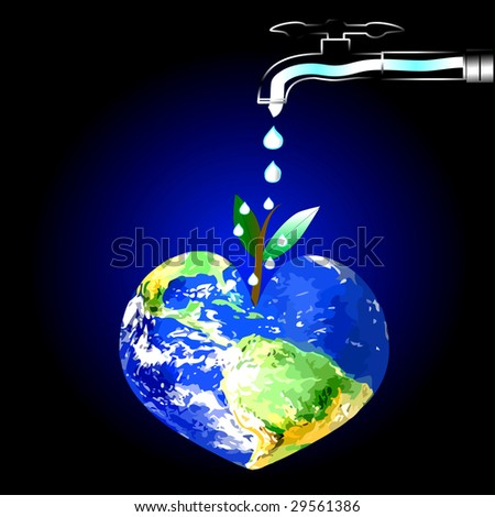 Keep Earth Green, See Vector Also In My Portfolio - stock photo