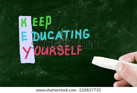 keep educating yourself - stock photo