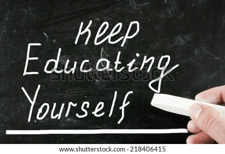 keep educating yourself concept - stock photo