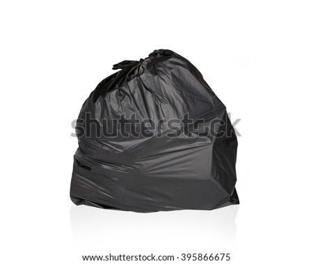 Keep garbage in bag for eliminate isolated on the white background. This has clipping path - stock photo