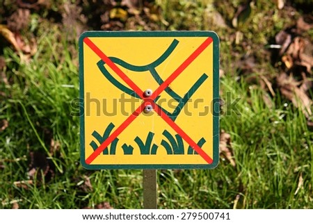 Keep off grass sign - stock photo