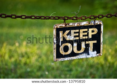 Keep Out - stock photo