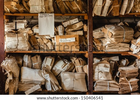 Keeping records - stock photo