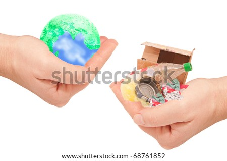 Keeping the planet from waste - stock photo