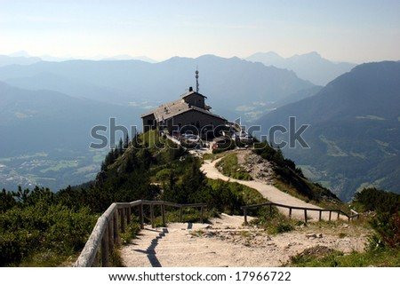 Kehlstein and Eagles nest in the bavarian Alps near Berchtesgaden in Germany - stock photo
