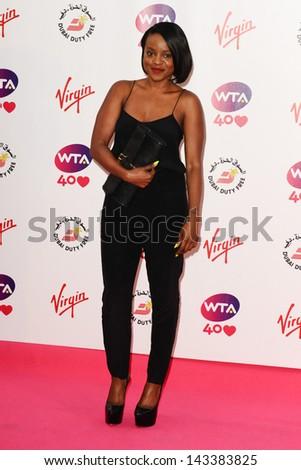Keisha Buchanan arriving for the WTA Pre-Wimbledon Party 2013 at the Kensington Roof Gardens, London. 20/06/2013 - stock photo