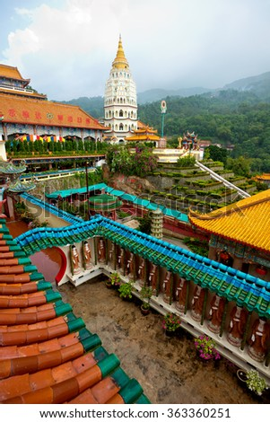 Kek Lok Si Temple in Penang, Malaysia - stock photo