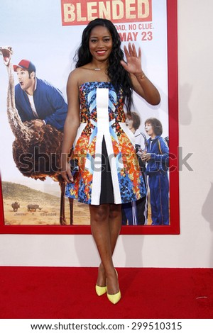 """Keke Palmer at the Los Angeles premiere of """"Blended"""" held at the TCL Chinese Theatre in Los Angeles on May 21, 2014 in Los Angeles, California.   - stock photo"""