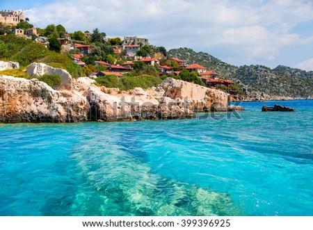 Kekova island, Antalya Turkey - stock photo