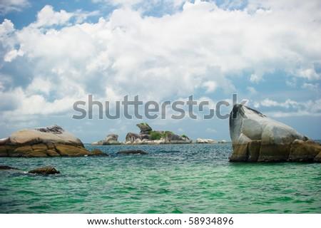 kelayang beach belitung indonesia - stock photo