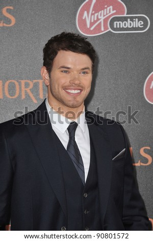 "Kellan Lutz at the world premiere of his new movie ""Immortals"" at the Nokia Theatre L.A. Live in downtown Los Angeles. November 7, 2011  Los Angeles, CA Picture: Paul Smith / Featureflash"