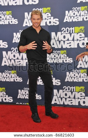 Kellen Lutz at the 2011 MTV Movie Awards at the Gibson Amphitheatre, Universal Studios, Hollywood. June 5, 2011  Los Angeles, CA Picture: Paul Smith / Featureflash