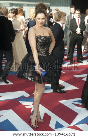 Kelly Brook arriving  for the 2012 BAFTA Television Awards Royal Opera House, Southbank London. 27/05/2012 Picture by: Simon Burchell / Featureflash - stock photo