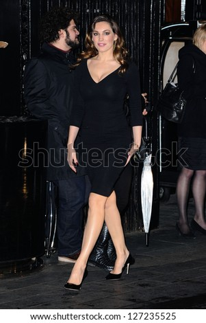 Kelly Brook arriving for the British Fashion Awards 2012 at the Savoy Hotel, London. 27/11/2012 Picture by: Steve Vas - stock photo